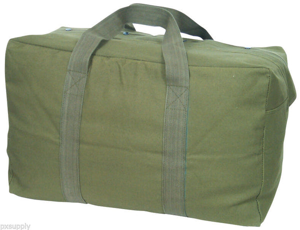 cargo bag parachute style canvas olive drab fox 40-50