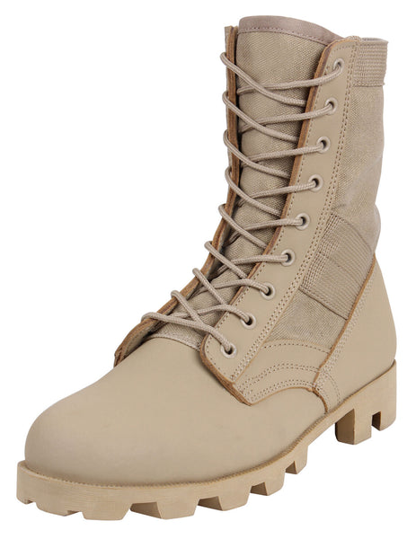 Military Style Jungle Boots Desert Tan Boot Rubber Panama Sole Rothco 5909