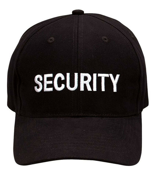 Black Security Embroidered Baseball Uniform Cap Ballcap Hat Rothco 9282