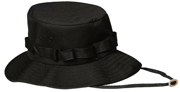 Black Booniehat Sun Jungle Boonie Hat Wide Brim Rothco 5546