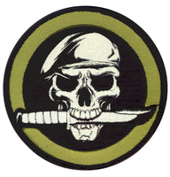 patch skull knife special forces hook backing rothco 72194