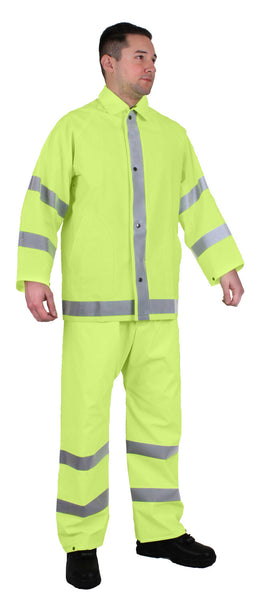 reflective rain suit set jacket and pants heavyweight rothco 3954