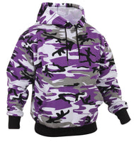 Mens Camo Hoodie Hooded Sweatshirt Pullover Purple Violet Camouflage Rothco 4790
