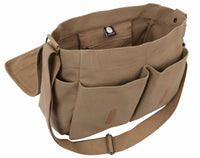 Vintage Military Style Messenger Bag Shoulder Strap Coyote Brown Rothco 9751