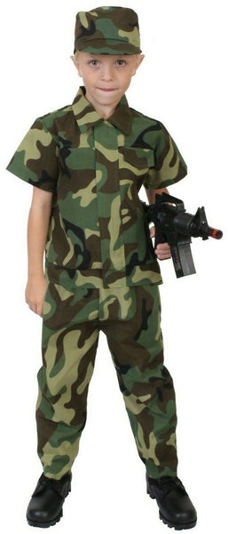 Kids Soldier Camo Military Style Costume Woodland Camouflage Rothco 2756