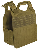 Tactical Laser Cut Molle Plate Carrier Vest Black Coyote Brown Rothco 3747