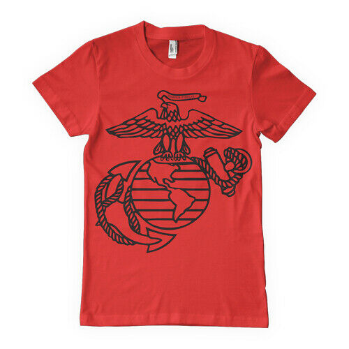 USMC T-shirt Marines Red EGA Eagle Globe Anchor Various Sizes Fox Outdoor 63-532