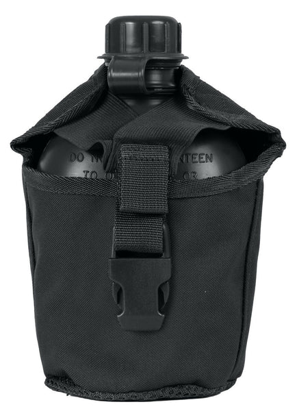 Canteen Cover Pouch Molle Modular Tactical 1 Quart Black Rothco 40111