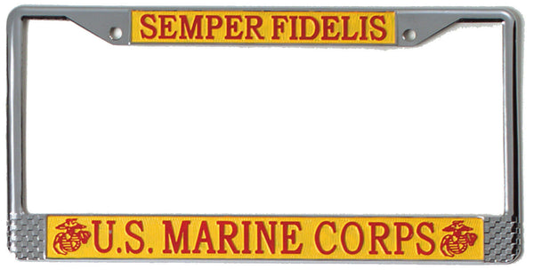 US Marine Corps Marines License Plate Frame USMC Semper Fi Rothco 1935