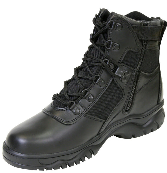 military style blood pathogen tactical boots side zipper waterproof rothco 5190