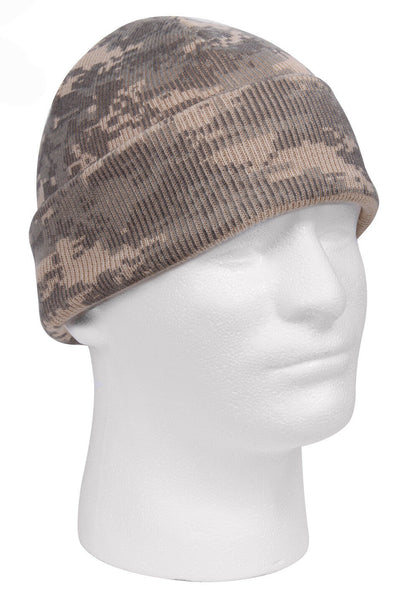 military style camo watch cap camouflage acu woodland digital rothco 5702