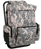 back pack stool combo pack acu digital camo camping hiking chair rothco 4768
