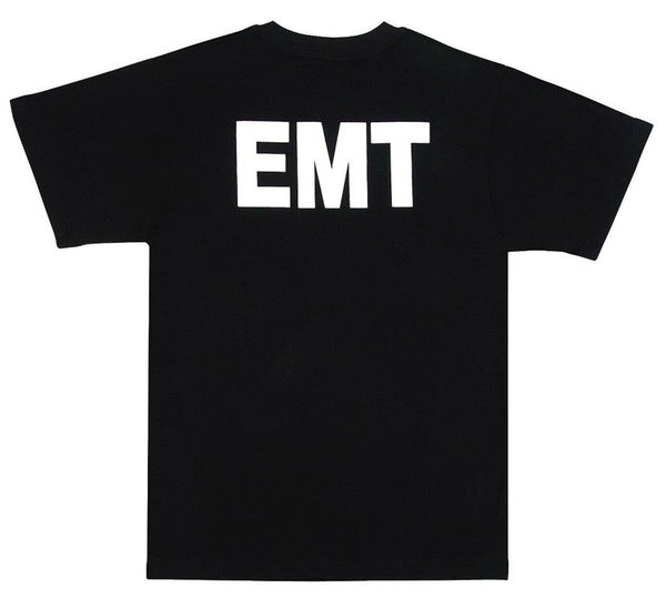 EMT Medic EMS Uniform T-shirt Black or Blue Printed On Both Sides Rothco 6676