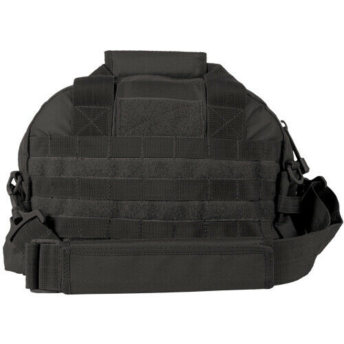 Black Tactical Field Range Bag Pack 2 Compartment Carry Handles Shoulder Strap