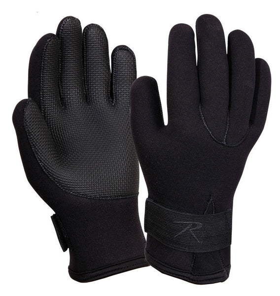 Gloves Black Waterproof Cold Weather Winter Neoprene rothco 33550