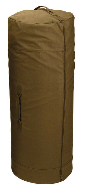 "duffle bag canvas side zipper coyote brown 25"" X 42"" rothco 3439"