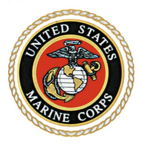 USMC MARINES AUTO DECAL OUTSIDE WINDOW STICKER ROTHCO 1219