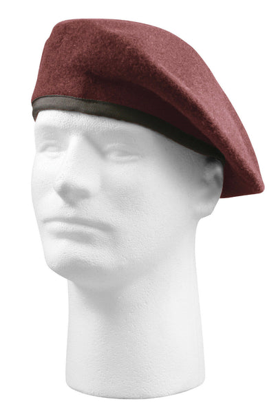 Beret Maroon Red Inspection Ready Made to MIL SPEC various sizes Rothco 4929