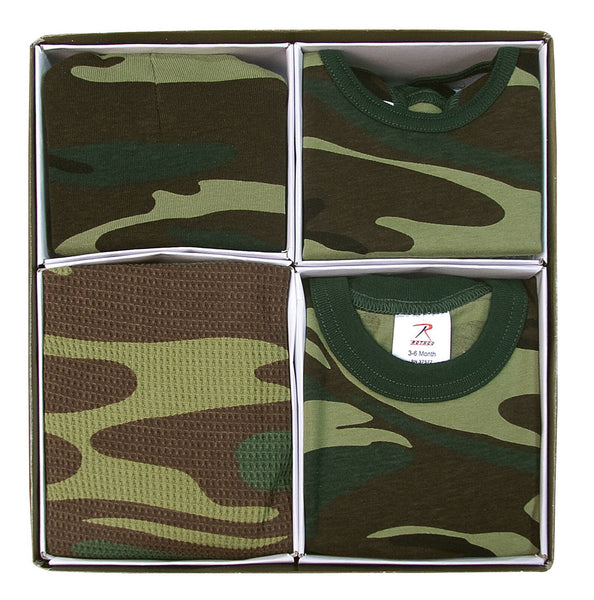 Infant Baby Gift Camo Set One Piece Bodysuit Crib Cap Blanket Bib Rothco 6995