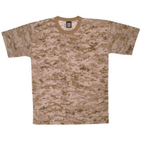 t-shirt desert digital camo made in the usa fox outdoor 64-123 various sizes