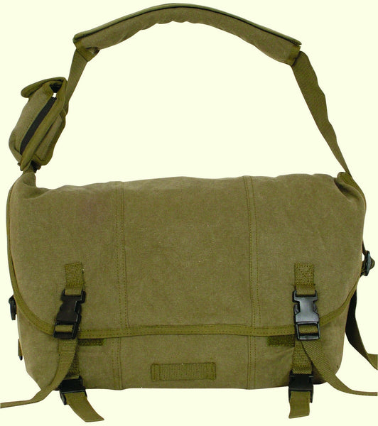 Courier Shoulder Bag Messenger Style Bag Olive Drab Fox 42-075