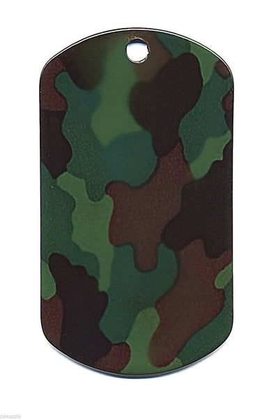 DOG TAG WOODLAND CAMO LISTING FOR ONE TAG ONLY ROTHCO 8496