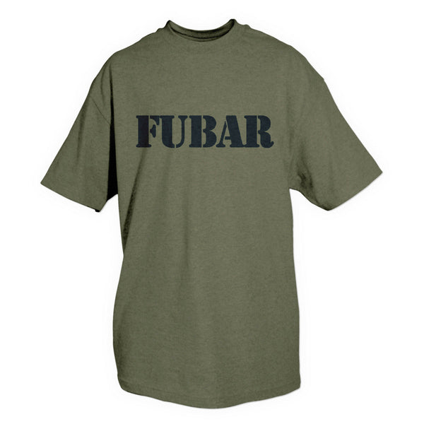t-shirt fubar military olive drab various sizes fox outdoor 64-541