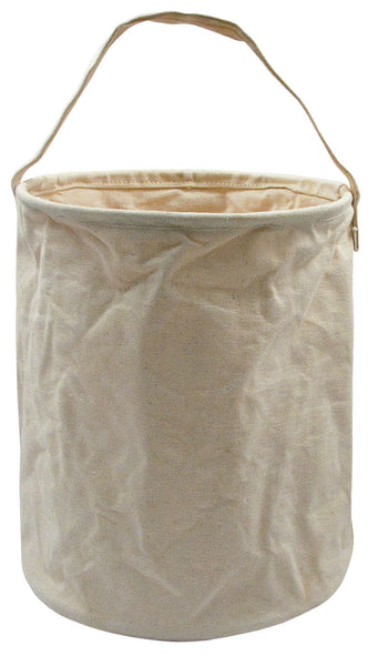 WATER BUCKET SMALL NATURAL CANVAS  GREAT FOR CAMPING COLLAPSIBLE ROTHCO 9004