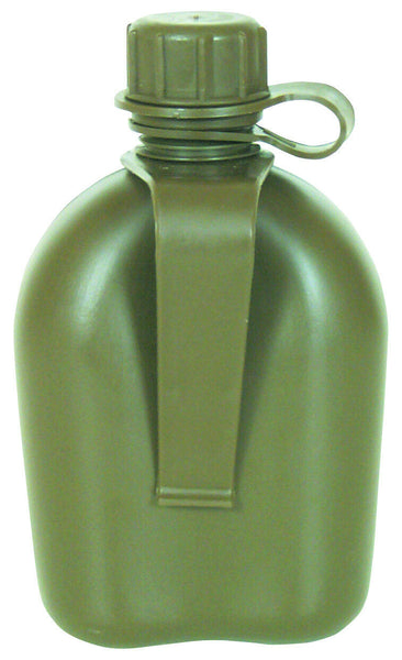plastic canteen 1 qt with belt clip olive drab made in the usa fox 33-12