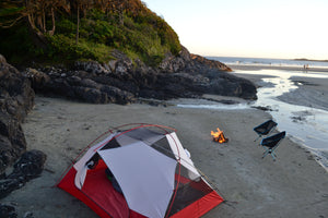 Camping Rentals made easy, like this beach scene in Tofino.