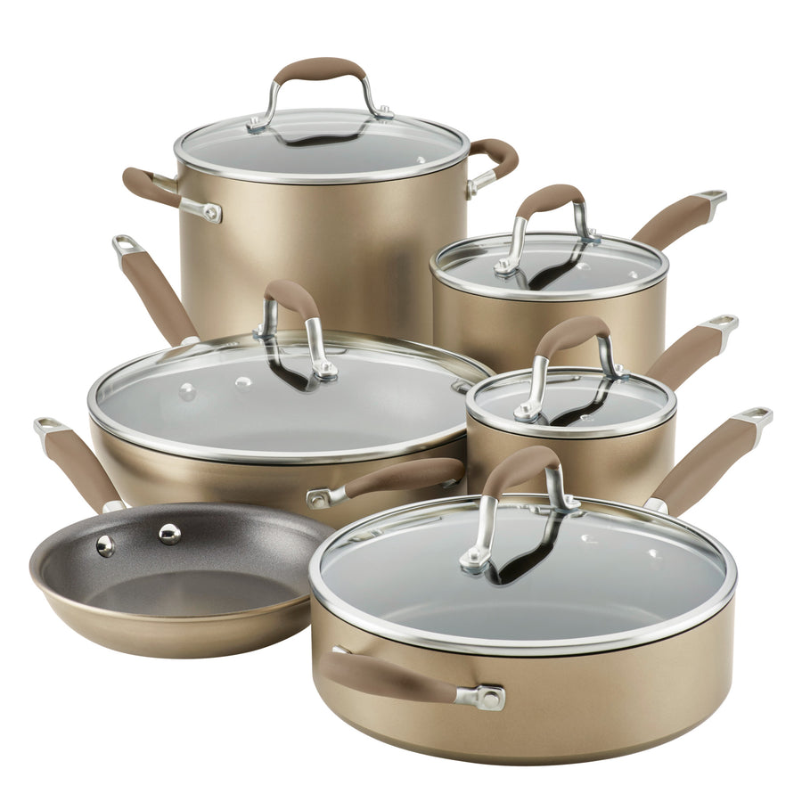 Anolon Advanced Home 11-Piece Cookware Set - Bronze