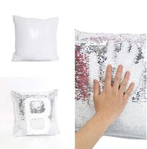Custom reserve sequin pillow cover