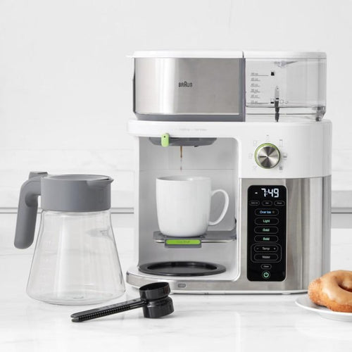 Braun MultiServe Drip Coffee Maker KF9050 - White with Stainless steel accents - The Coffee Life Company