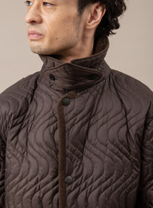 Waves Quilted Over Coat