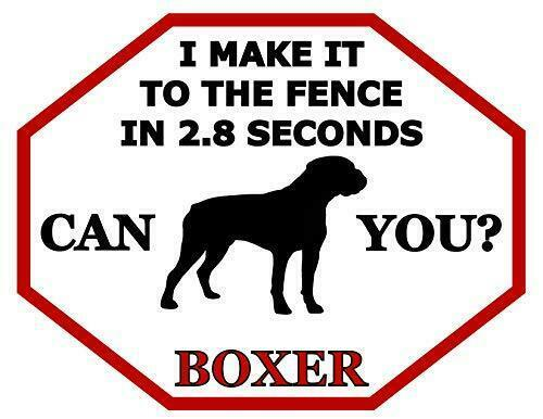 Yorkie Dog Sign SP1512 I Make It to The Fence in 2.8 Seconds Can You