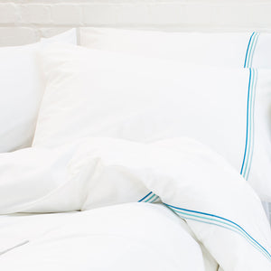Aqua Blue Cord Pillow Cases from Beaumont & Brown