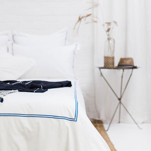 Blue 2 Row Cord Duvet Cover from Beaumont & Brown