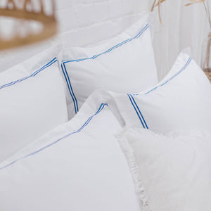 Blue 2 Row Cord Pillowcases from Beaumont & Brown