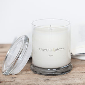 Beaumont & Brown Scented Candles - One - Lemongrass and Marjoram