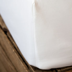 White 400TC Fitted Sheet