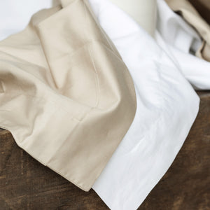 400TC Latte Flat Sheet by Beaumont & Brown