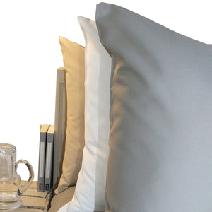 Housewife Pillowcases in Grey, White and Latte colours by Beaumont & Brown