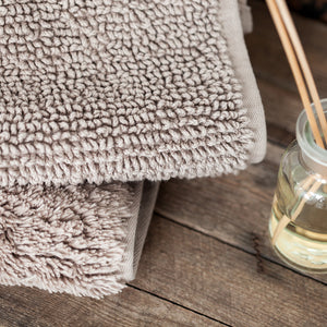 Soft Wheat Double Sided Tufted Bath Rug by Beaumont & Brown