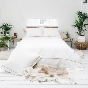 Latte Cross Border 400TC Bedding Set