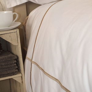 Latte Cross Border Duvet Cover by Beaumont & Brown