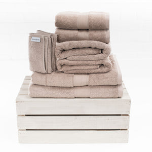 Latte 650gsm Combed Cotton Towels by Beaumont & Brown