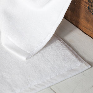 Pure White Lightweight Bath Mat by Beaumont & Brown