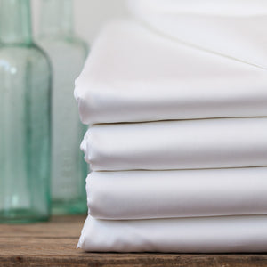 Luxury White Fitted Sheets by Beaumont & Brown
