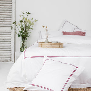 Red 2 Row Cord Duvet Cover from Beaumont & Brown