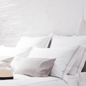 Silver 2 Row Cord Pillowcases from Beaumont & Brown